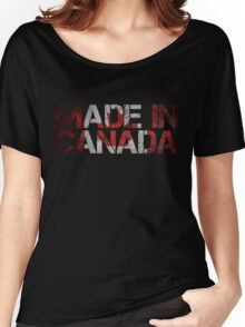 Canada Canadian Flag Women's Relaxed Fit T-Shirt