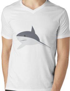 Minimal shark Mens V-Neck T-Shirt