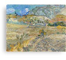 Vincent Van Gogh - Landscape at Saint-Rémy, Enclosed Field with Peasant 1889 Canvas Print