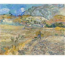 Vincent Van Gogh - Landscape at Saint-Rémy, Enclosed Field with Peasant 1889 Photographic Print