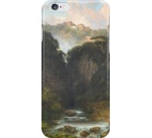 The Falls of Tivoli with the Temple of Vesta by WILLIAM WYLD  iPhone Case/Skin