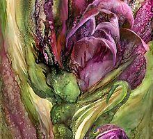 Wild Garden Tulips by Carol  Cavalaris