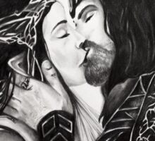 Arwen and Aragorn -True Loves Kiss Sticker