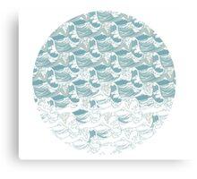 Big blue wave Canvas Print