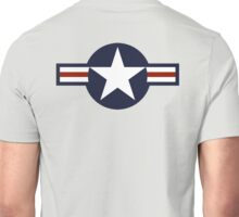 AIR FORCE, AMERICAN, USAF, Roundel, United States Air Force, aircraft, United States Navy, United States Marine Corps Unisex T-Shirt