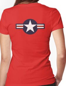 AIR FORCE, AMERICAN, USAF, Roundel, United States Air Force, aircraft, United States Navy, United States Marine Corps Womens Fitted T-Shirt