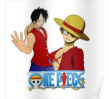 Luffi 00 - One Piece Poster