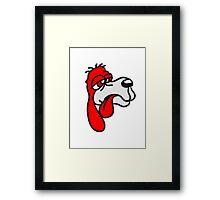depleted red sweet little sad dog silly Framed Print