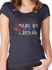 Cuba Cuban Flag Women's Fitted Scoop T-Shirt
