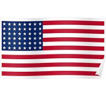 US Flag, WAR FLAG, 48 stars. Used 47 years, July 4, 1912, to July 3, 1959. Poster