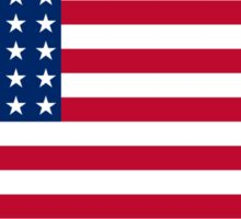 AMERICAN, Stars & Stripes, US Flag, WAR FLAG, 48 stars. Used 47 years, July 4, 1912, to July 3, 1959. Sticker