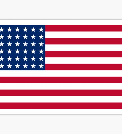 WAR FLAG, AMERICAN, Stars & Stripes, US Flag, 48 stars. Used 47 years, July 4, 1912, to July 3, 1959. Sticker