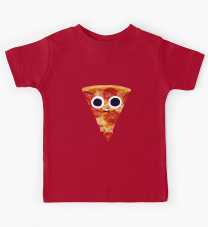 Surprised Pizza Slice Kids Tee