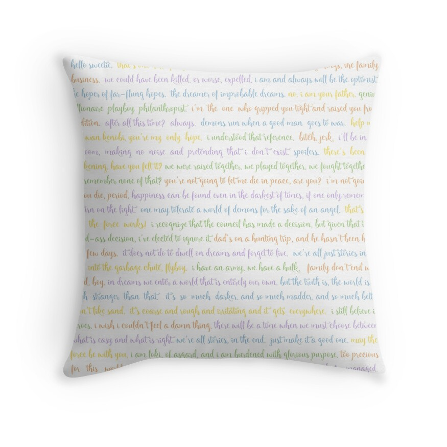 Throw Pillows With Words On Them :