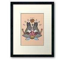 squirrel love Framed Print