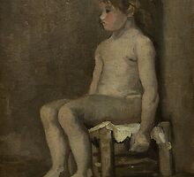 Vincent Van Gogh - Nude girl, seated, April 1886 - June 1886 by famousartworks