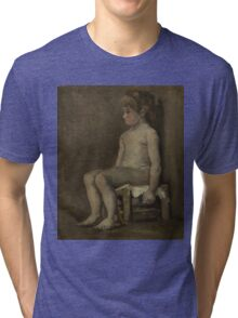 Vincent Van Gogh - Nude girl, seated, April 1886 - June 1886 Tri-blend T-Shirt