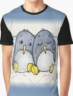 Cuddling Penguins Graphic T-Shirt