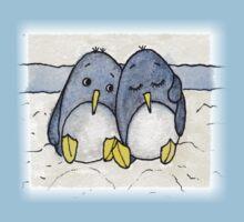 Cuddling Penguins One Piece - Short Sleeve