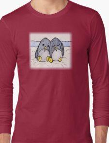 Cuddling Penguins Long Sleeve T-Shirt