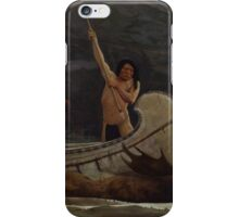 The Moose Chase , George de Forest Brush iPhone Case/Skin