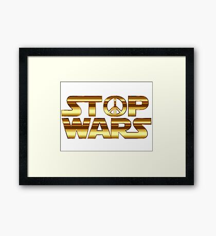 Star Wars Peace Hippie Framed Print