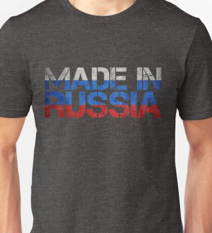 Russia Russian Flag Unisex T-Shirt