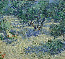 Vincent Van Gogh - Olive Orchard, 1889 by famousartworks