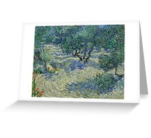 Vincent Van Gogh - Olive Orchard Greeting Card