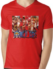 One Piece - Characters 000 Mens V-Neck T-Shirt