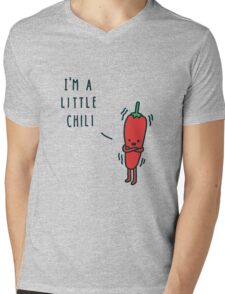 Chili Cartoon Mens V-Neck T-Shirt