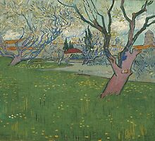 Vincent Van Gogh - Orchards in blossom, view of Arles, April 1889 - 1889 by famousartworks