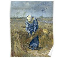 Vincent Van Gogh - Peasant woman binding sheaves, after Millet Poster