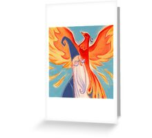 Dumbledore And Fawkes Greeting Card