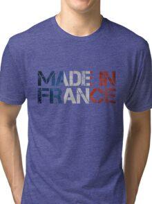 France French Flag Tri-blend T-Shirt