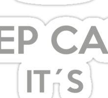 Keep Calm it´s Groundhog Day Sticker