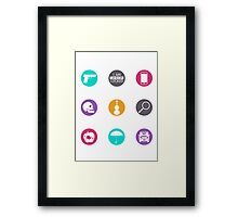 Sherlock Items Framed Print