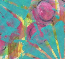 Blue Flower Abstract Sticker