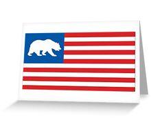 California. Greeting Card