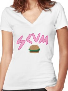 Scum - Inspired by Rat Boy Women's Fitted V-Neck T-Shirt