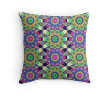 Psychdelic kaleidoscope Throw Pillow