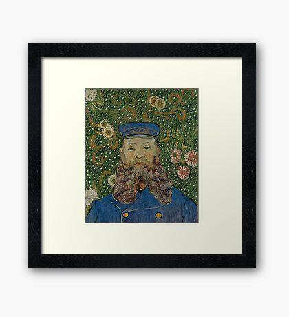 Vincent Van Gogh - Portrait of Joseph Roulin, 1889 Framed Print