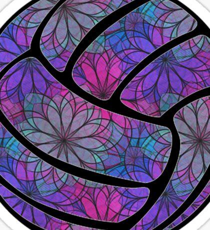 Purple Flower Volleyball Sticker