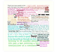 The Office Quotes Art Print