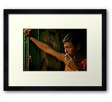 Hand to Mouth Framed Print