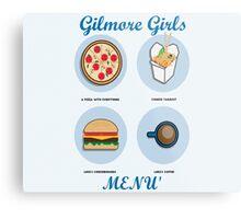 Gilmore girls-menù Metal Print