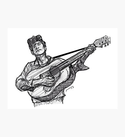 Bob Dylan (guitar) Photographic Print