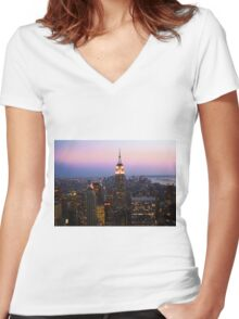 ESB Women's Fitted V-Neck T-Shirt