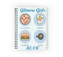 Gilmore girls-menù Spiral Notebook