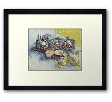 Vincent Van Gogh - Red cabbages and onions, October 1887 - November 1887 Framed Print
